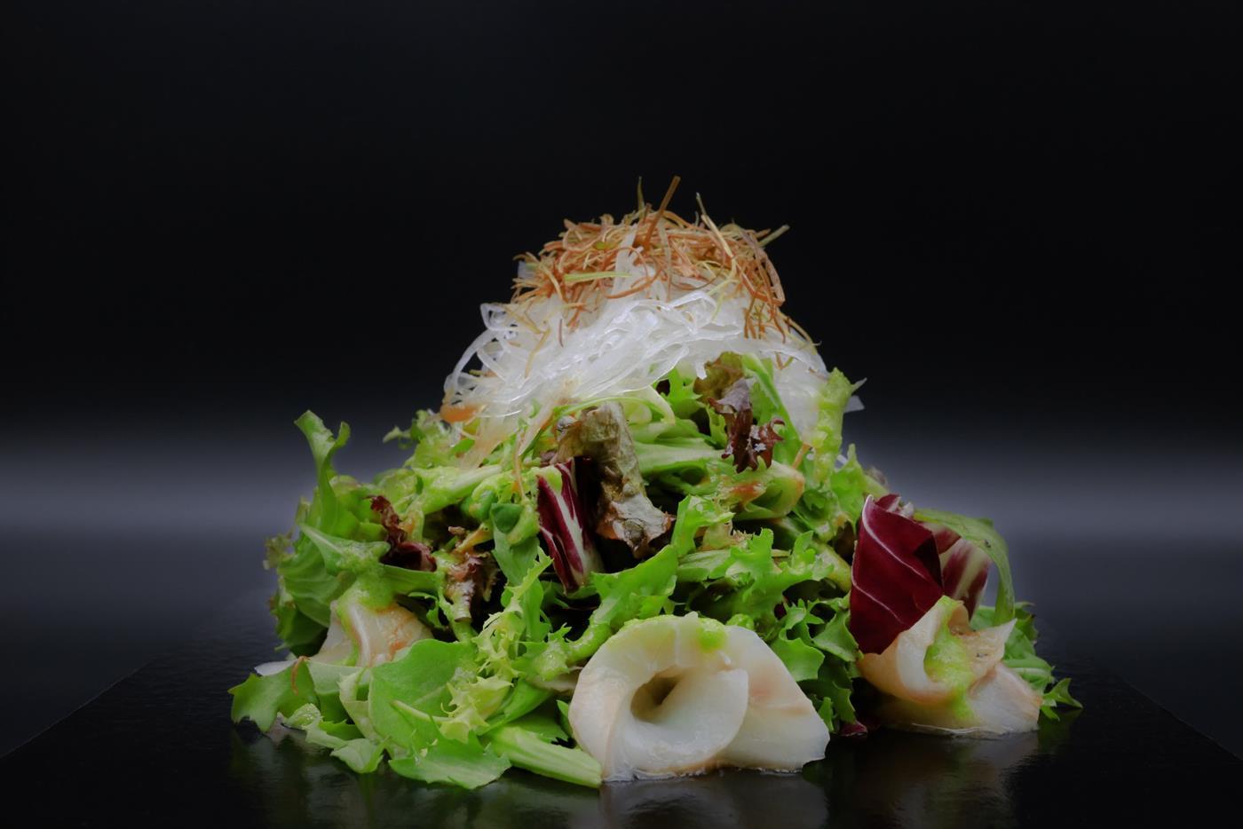 Sesam kveite salat