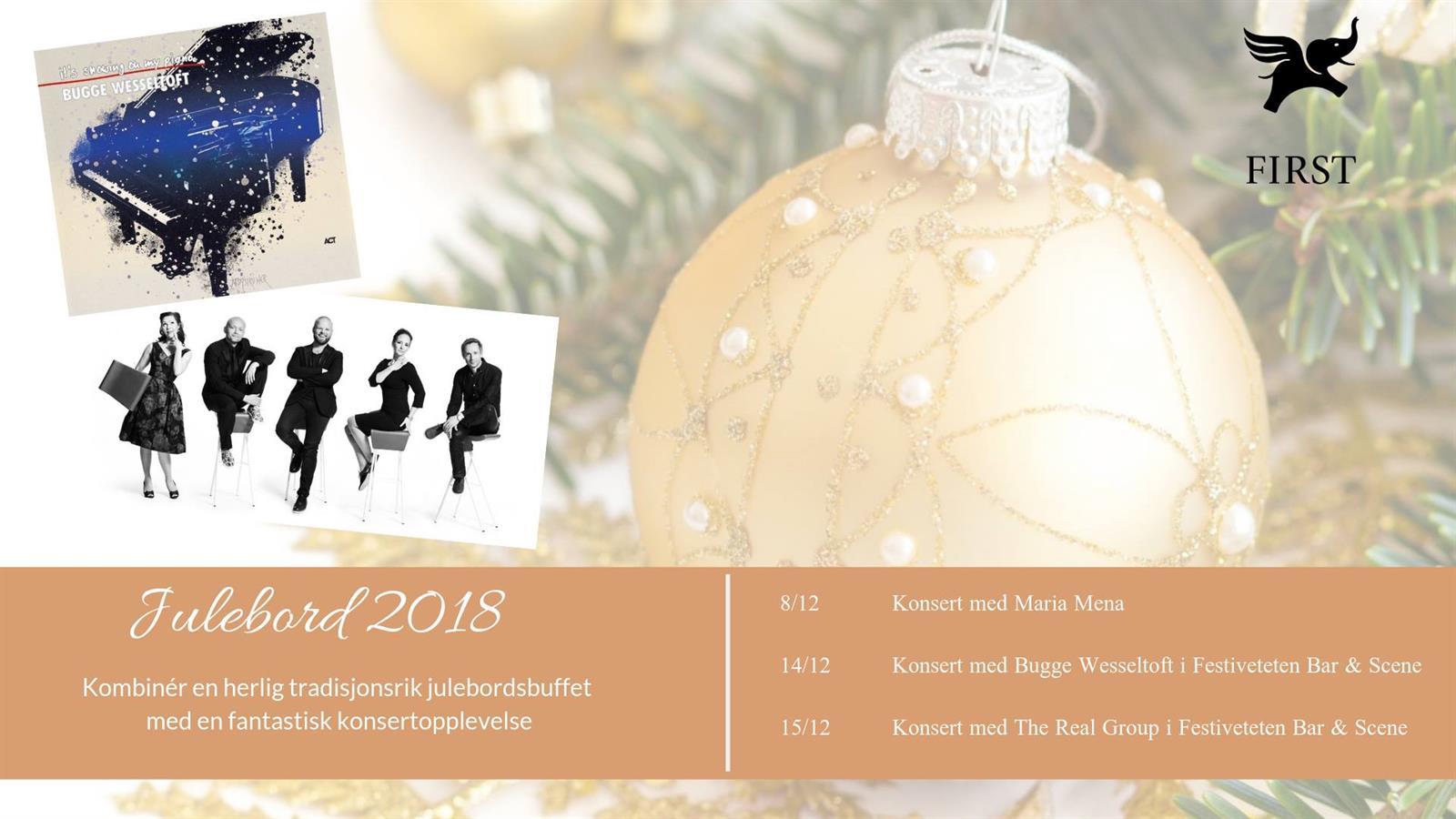 Julebord og konsert på Hotel Victoria Hamar